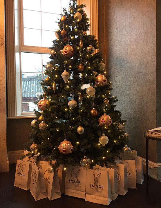 Christmas at Manor Health, presents under tree